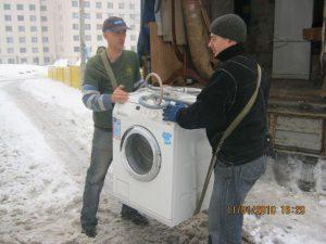 Погрузка стиральной машины автомат