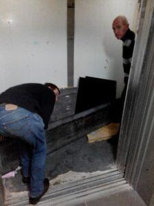 подъем плит без лифта