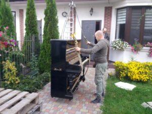Перевозка пианино с манипулятором