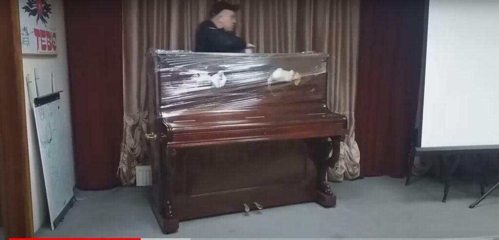 Упаковка пианино